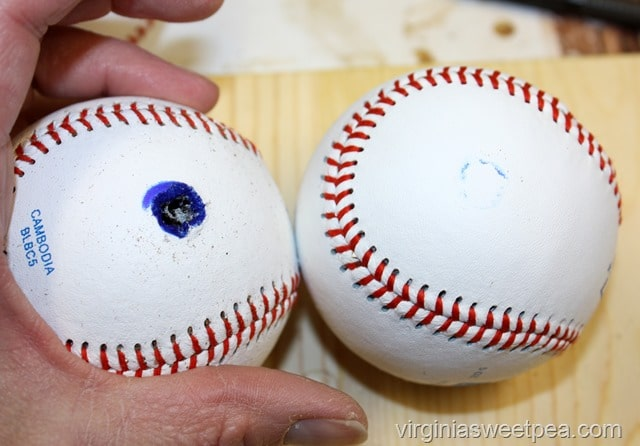How to Make Baseball Bookends
