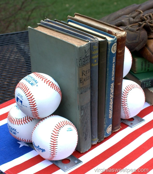 DIY Baseball Bookends - Learn how to make your own. virginiasweetpea.com