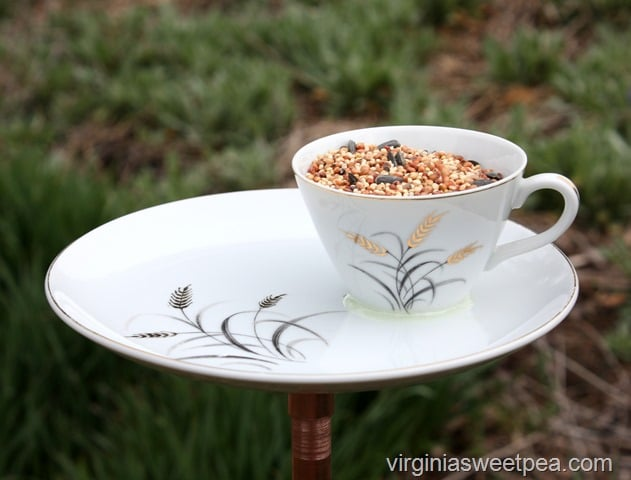 How to Make a Bird Feeder Using a Vintage Snack Set or Cup and Saucer