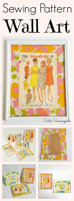 Pin_Sadie_Seasongoods_Creating_DIY_fashion_wall_art_with_vintage_bed_sheet_fabric_and_sewing_patterns