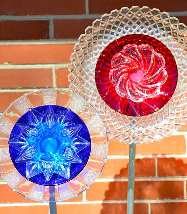 Glass Flowers Made from Plates