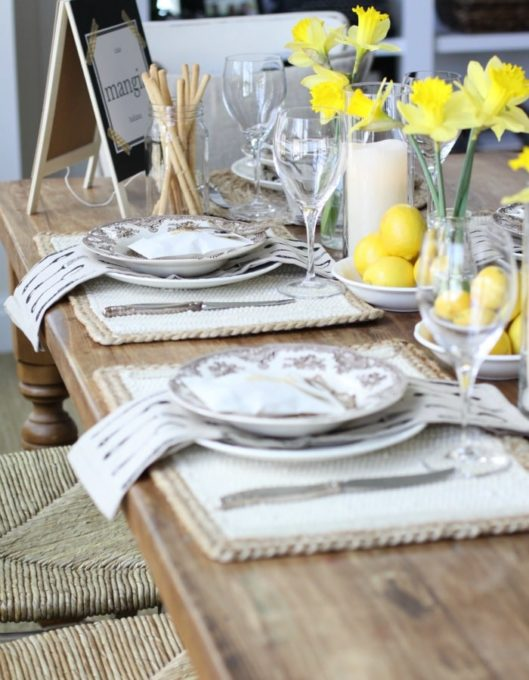 Spring Inspired Table Decorations
