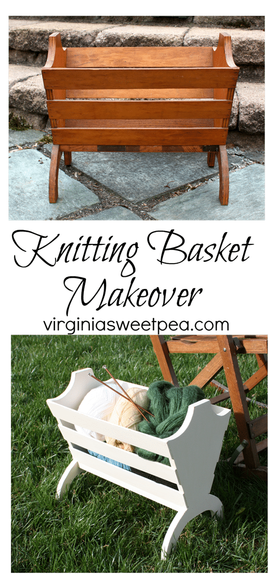 A Goodwill Found Knitting Basket Gets a Makeover - virginiasweetpea.com