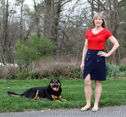 April 2016 Stitch Fix - 41Hawthorne Piper Asymmetrical Hem Skirt4