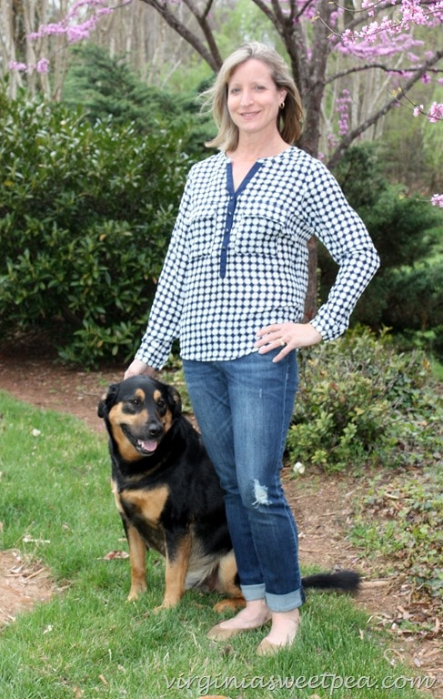 April 2016 Stitch Fix - 41Hawthorne Quay Henley Blouse2
