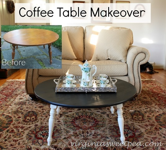 Coffee Table Makeover - Before and After - See more at virginiasweetpea.com