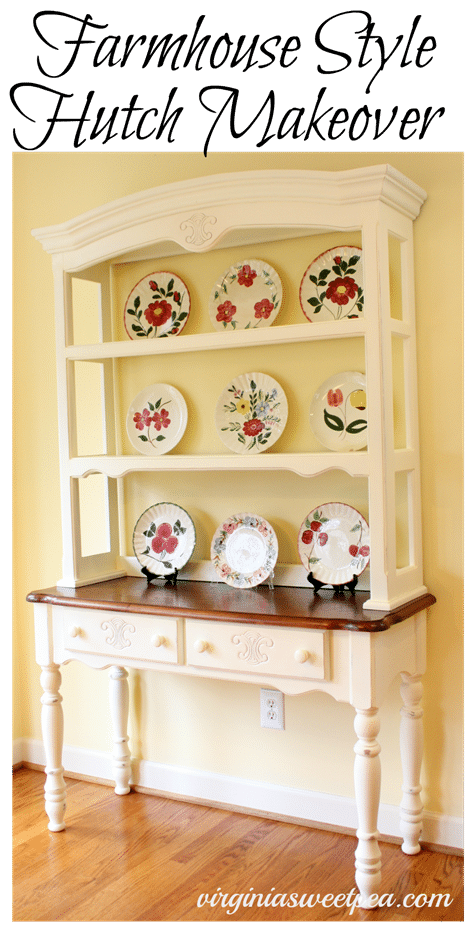 Farmhouse Style Hutch Makeover by virginiasweetpea.com