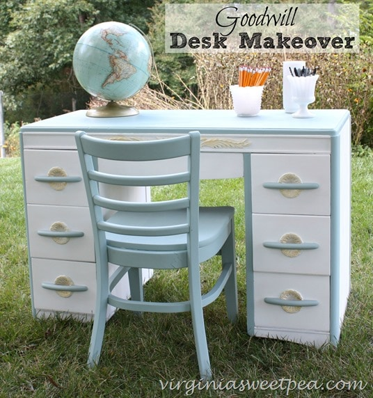 Goodwill Desk Makeover - virginiasweetpea.com