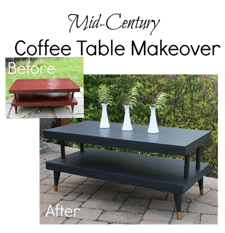 Mid Century Coffee Table Table Makeover - A coffee table gets a fresh look with paint. virginiasweetpea.com