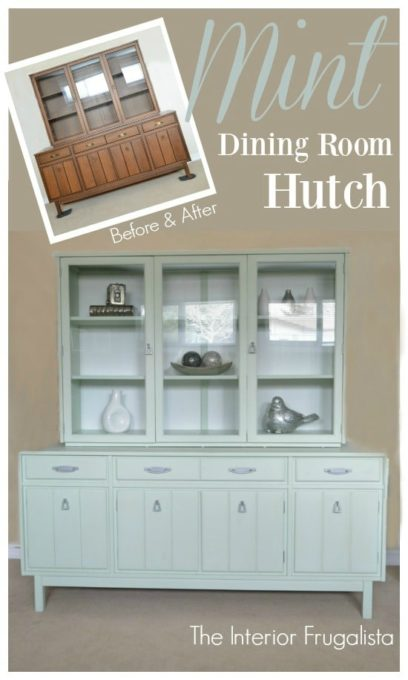 Mid-Century Hutch Makeover