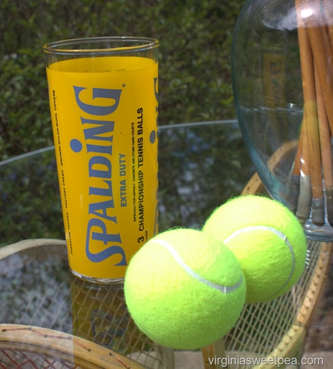 Vintage Spalding Tennis Ball Glass