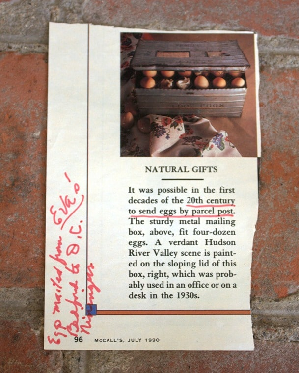 Antique Egg Shipping Crate - Featured in McCall's July 1990 issue.