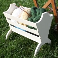 Knitting Basket Makeover (Thrift Store Upcycle Challenge)