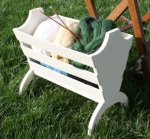 Wooden Knitting Basket Makeover