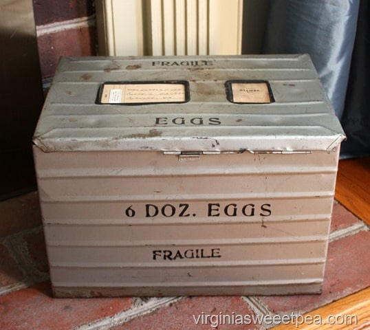 Vintage Egg Shipping Crate