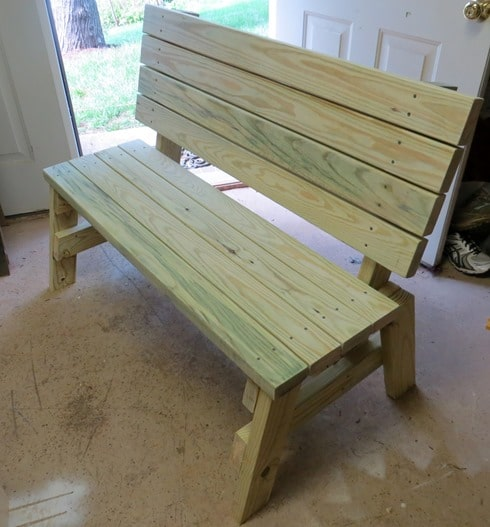 Completed DIY 2x4 Bench