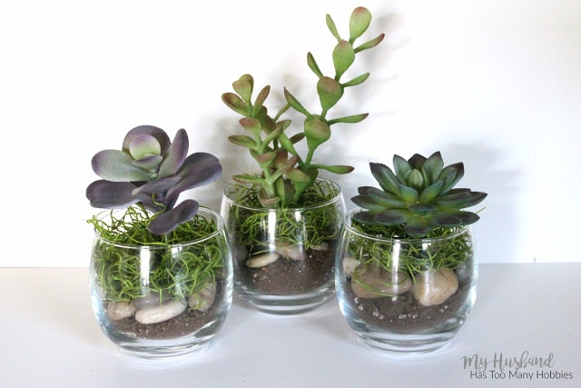 Faux Succulent Planters 4