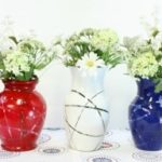 Patriotic Vases - Red, White and Blue