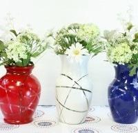 Patriotic Flower Vases – Thrift Store Decor Upcycle Challenge