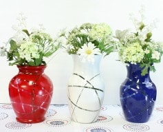 Patriotic Flower Vases – Thrift Store Decor Upcycle Challenge