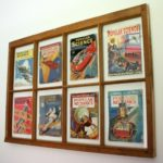 Window Wall Decor with Vintage Magazine Covers