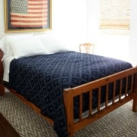 Smith Mountain Lake House Guest Room with Americana Decor
