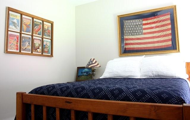 Lakehouse Decor - Americanna Themed Bedroom