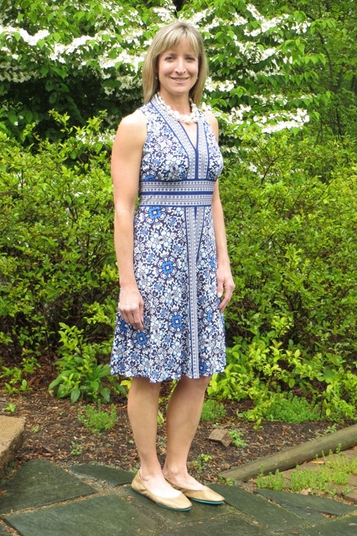 May 2016 Stitch Fix Review - London Times Bryen Jersey V-neck Dress - virginiasweetpea.com