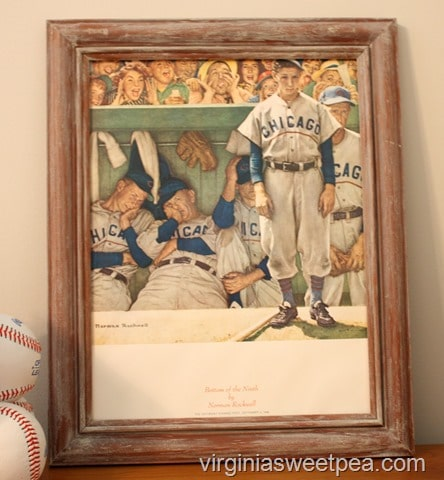Norman Rockwell Bottom of the Ninth Chicago Cubs Print