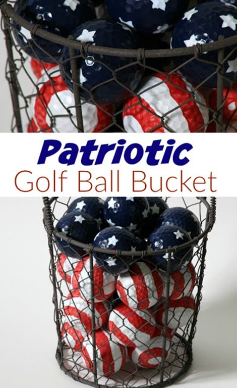 Patriotic Golf Ball Pin