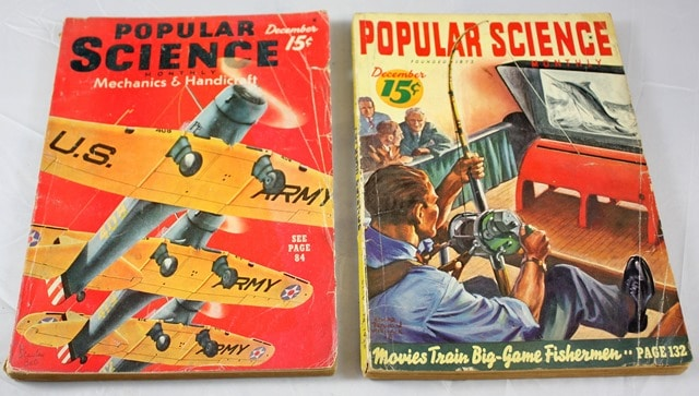 Popular Science Magazines from 1938-41
