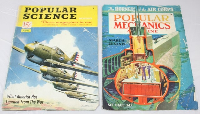 Popular Science and Popular Mechanics Magazine Covers from the late 30's and early 40's