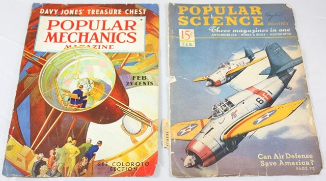 Popular Science and Popular Mechanics Magazines from 1938-41