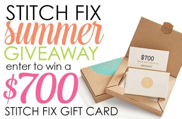 Stitch Fix Summer Giveaway - Win a $700 Stitch Fix Card