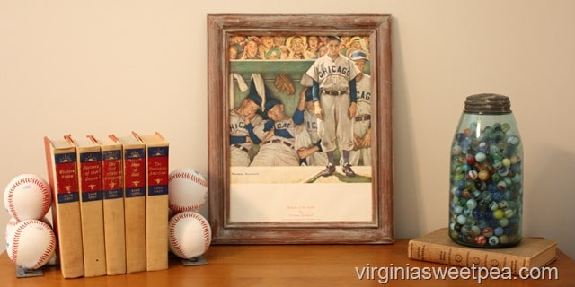 Vintage Baseball Vignette at the Lake