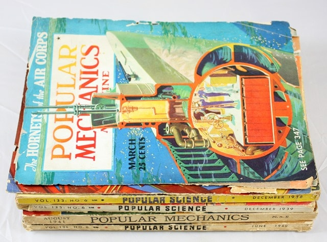 Vintage Popular Mechanics and Popular Science Magazines 1938-1941