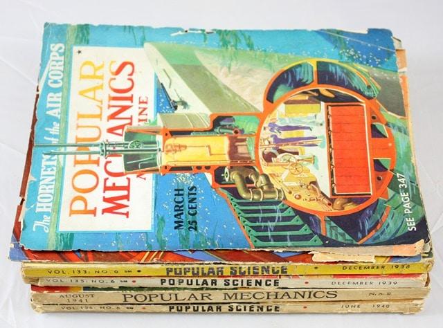 Vintage Popular Mechanics and Popular Science Magazines 1938-1941