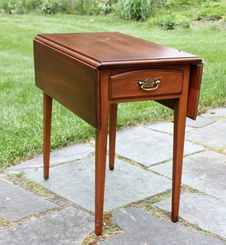 Drop Leaf Cherry End Table