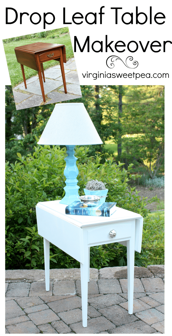 A drop leaf table gets a makeover with paint. virginiasweetpea.com