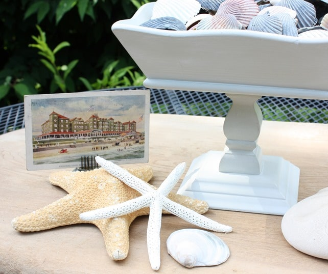 Coastal Vignette with Upcycled Wooden Bowl
