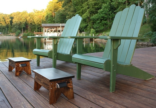 DIY Wooden Footstools with DIY Adirondack Chairs