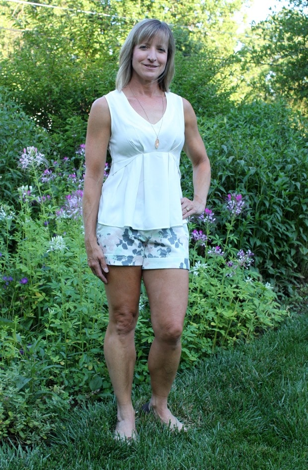 Dear John Finnegan Printed Cuffed Shorts - Stitch Fix Review - July 2016 - virginiasweetpea.com