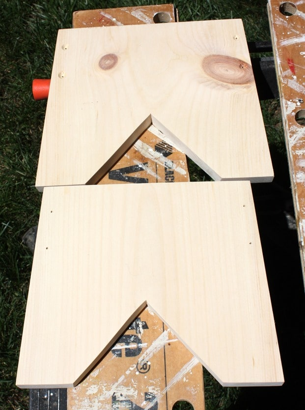 Drill holes to connect sides and ends