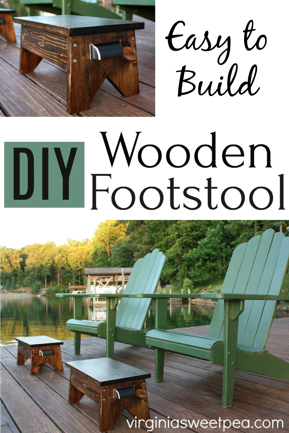 DIY Wooden Footstool - Get a step-by-step tutorial to make a wooden footstool for your home. #woodworking #footstool #diyfootstool #woodfootstool via @spaula
