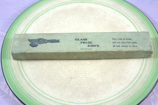 Glass Fruit Knife 1938