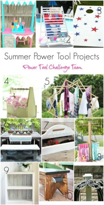 Summer Power Tool Projects from the Power Tool Team Challenge Girls - These are projects that you can make!  virginiasweetpea.com