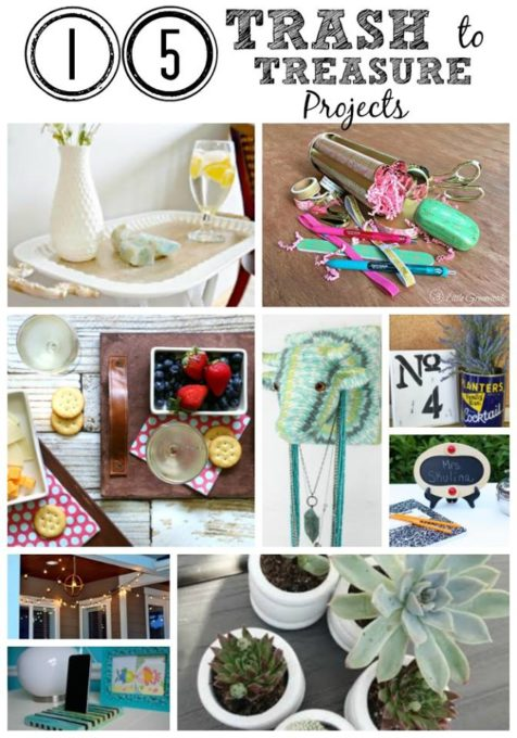 Get inspired by 15 Trash to Treasure projects made with items found at the thrift store.