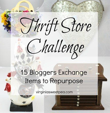 Thrift Store Challenge - 15 Bloggers Exchange Items to Repurpose. See what we received! virginiasweetpea.com