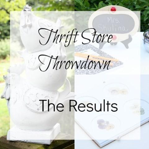 Thrift Store Throwdown - The Reuslts