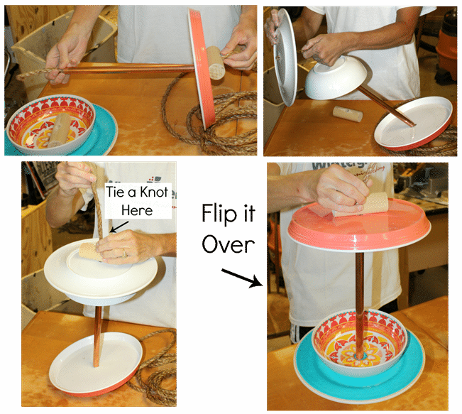 How to make an easy bird feeder - Step by step instructions. virginiasweetpea.com